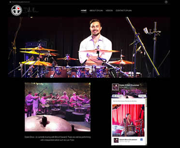 Dylan Elise drummer website